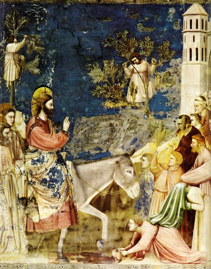 Christ Entering Jerusalem Giotto, 1305
