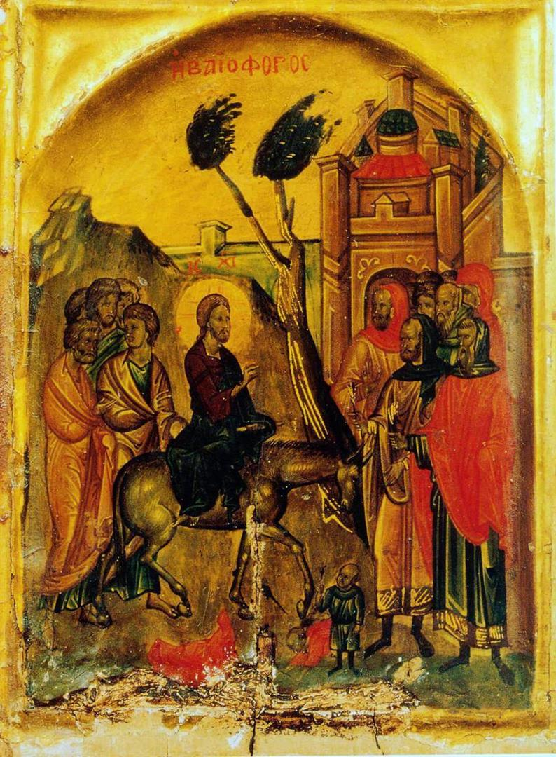 palmsunday-jerusalem-rameaux-icon-from-st-catherine-monastery-of-mount-sinai-14th-century
