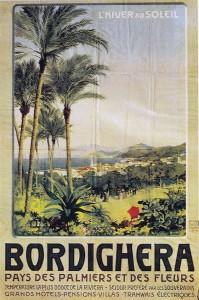 Bordighera. Pays des palmiers et de fleurs Chromolithographie sd