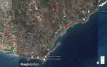 Mappa Google infestazione dactylifera Bordighera 2015